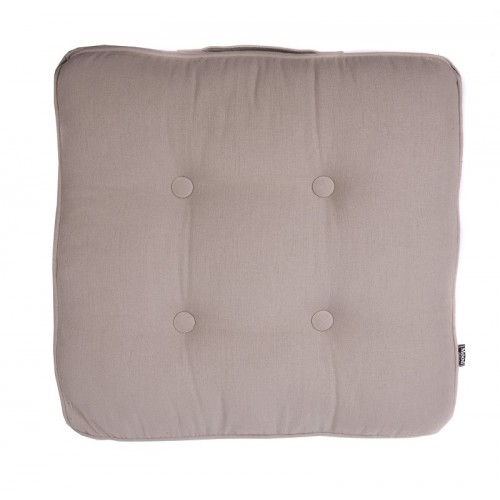 Coussin de sol carré beige In The Mood
