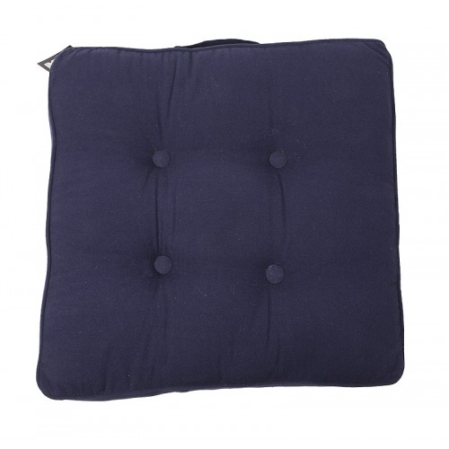 Coussin de sol carré bleu marine In The Mood