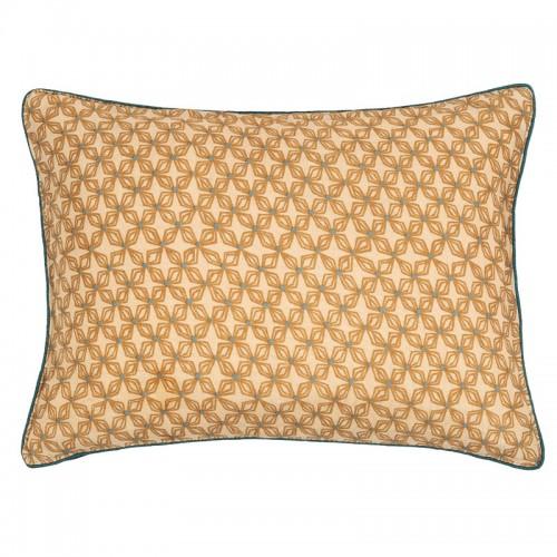Housse de coussin rectangulaire Origami beige en soie Le Monde Sauvage
