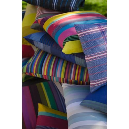Housse de coussin d'extérieur rectangulaire Pompadour multicolore Tissage de Luz
