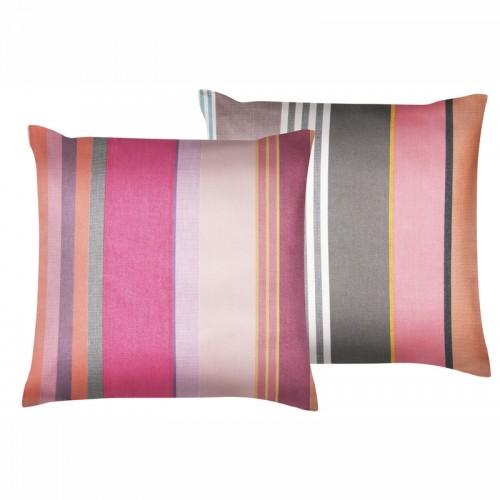 Housse de coussin d'extérieur carrée Pivoine multicolore Tissage de Luz