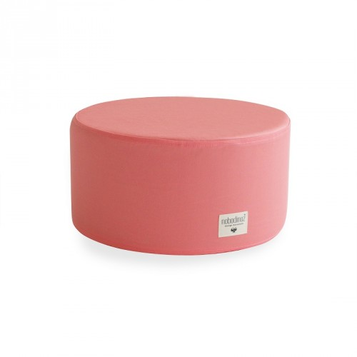 Pouf rond Little Soho rose Nobodinoz