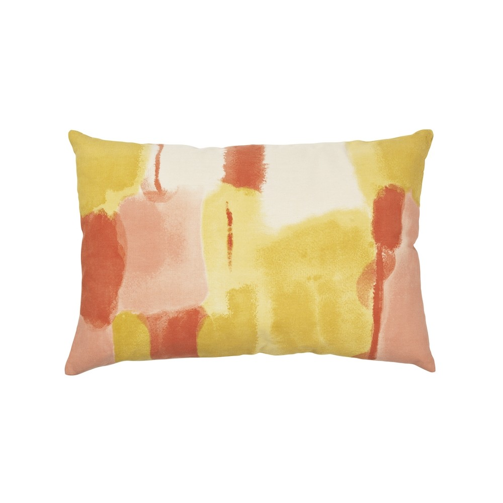 housse de coussin rectangulaire water color jaune broste coussins shop. Black Bedroom Furniture Sets. Home Design Ideas