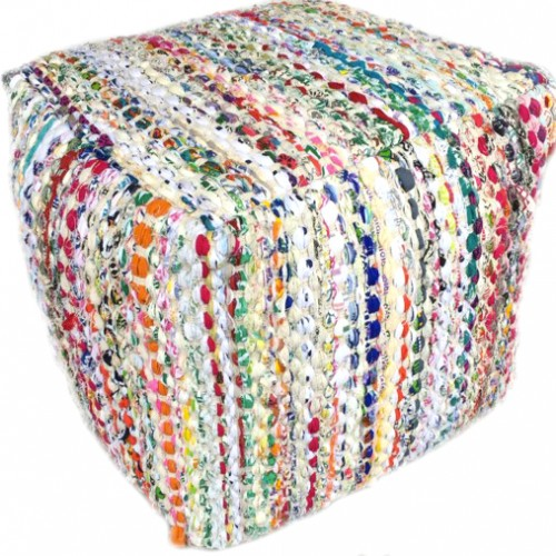 Pouf carré Circle multicolore Acsento