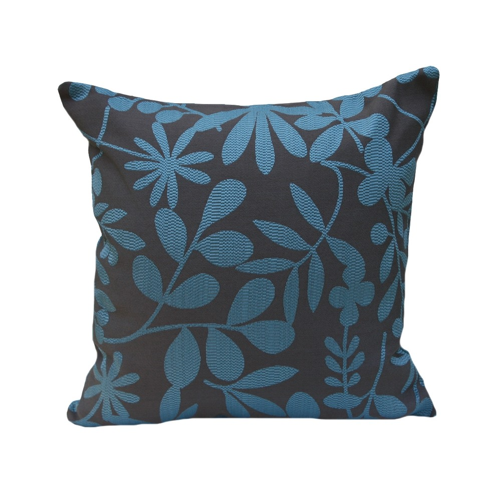 housse de coussin carr e leafs bleu tiseco coussins shop. Black Bedroom Furniture Sets. Home Design Ideas
