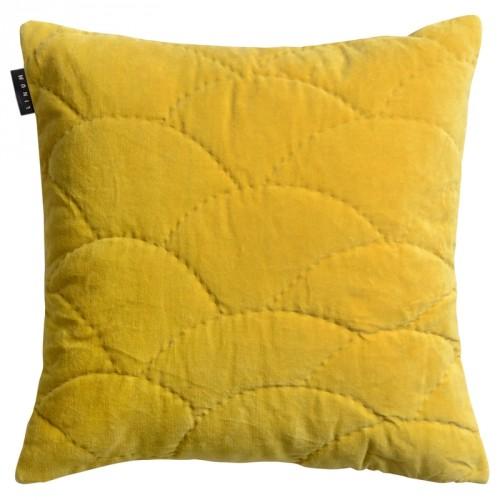 Housse de coussin carrée Siena jaune mangue Linum