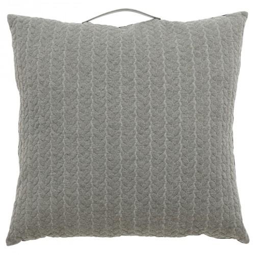 Coussin de sol carré gris Hübsch