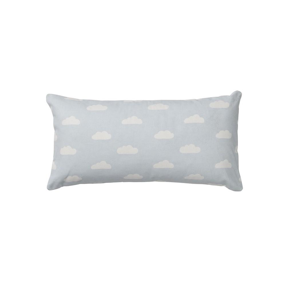coussin rectangulaire bleu ciel motifs nuages bloomingville coussins shop. Black Bedroom Furniture Sets. Home Design Ideas