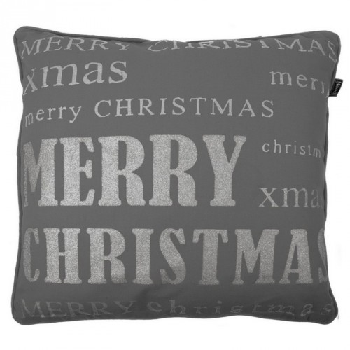 """Housse de coussin carrée gris anthracite """"Merry Christmas"""" In The Mood"""
