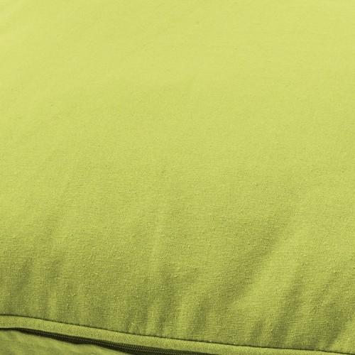 Housse de coussin carré vert citron Dutch Decor