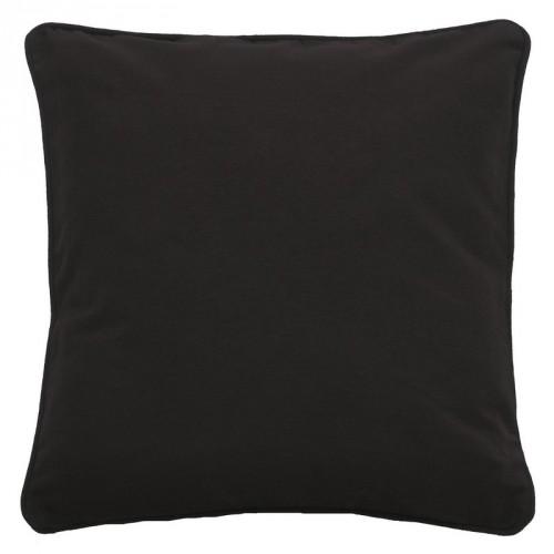 Housse de coussin carrée noir Dutch Decor