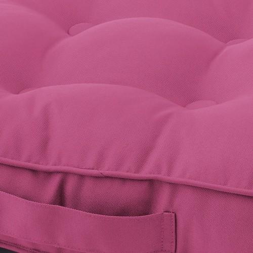 Coussin de sol d'extérieur Sunny rose fuchsia Dutch Decor