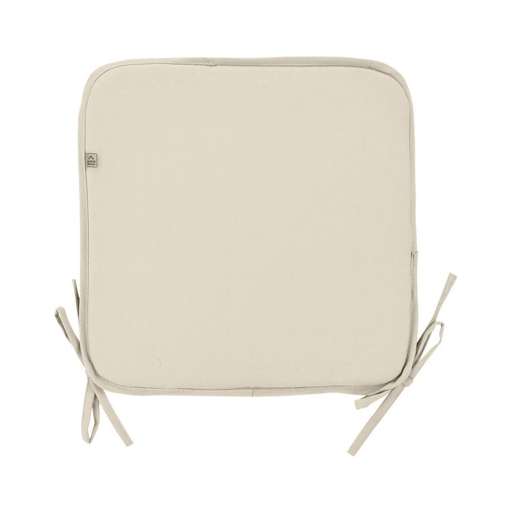 Galette de chaise d 39 ext rieur sunny sable dutch decor for Coussin chaise exterieur