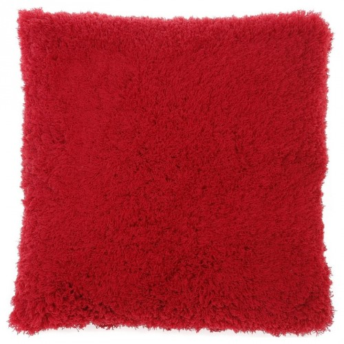 Housse de coussin carrée Gaia rouge Dutch Decor