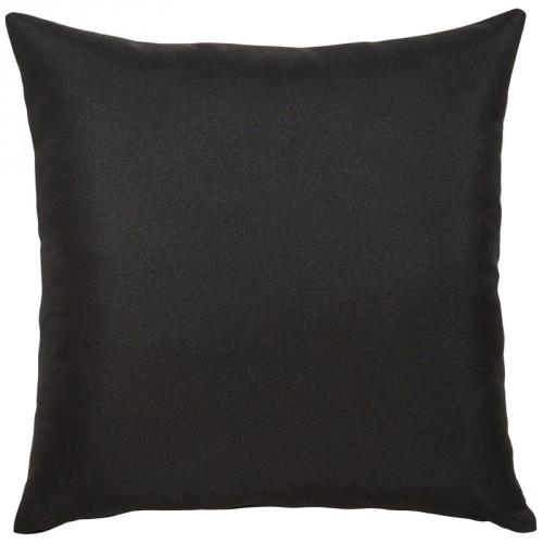 Coussin carré noir uni en coton