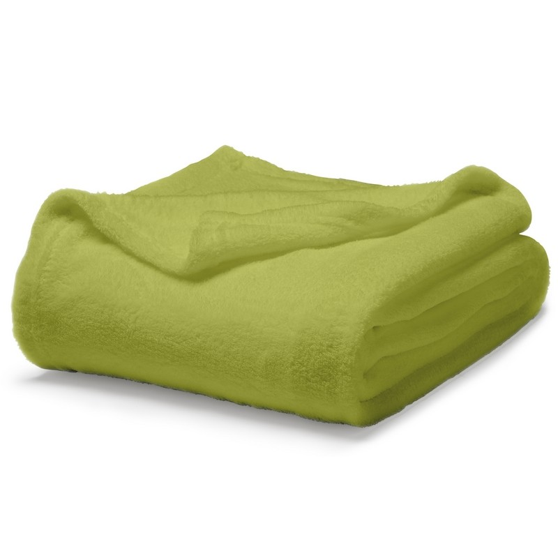 plaid moelleux vert anis coussins shop. Black Bedroom Furniture Sets. Home Design Ideas