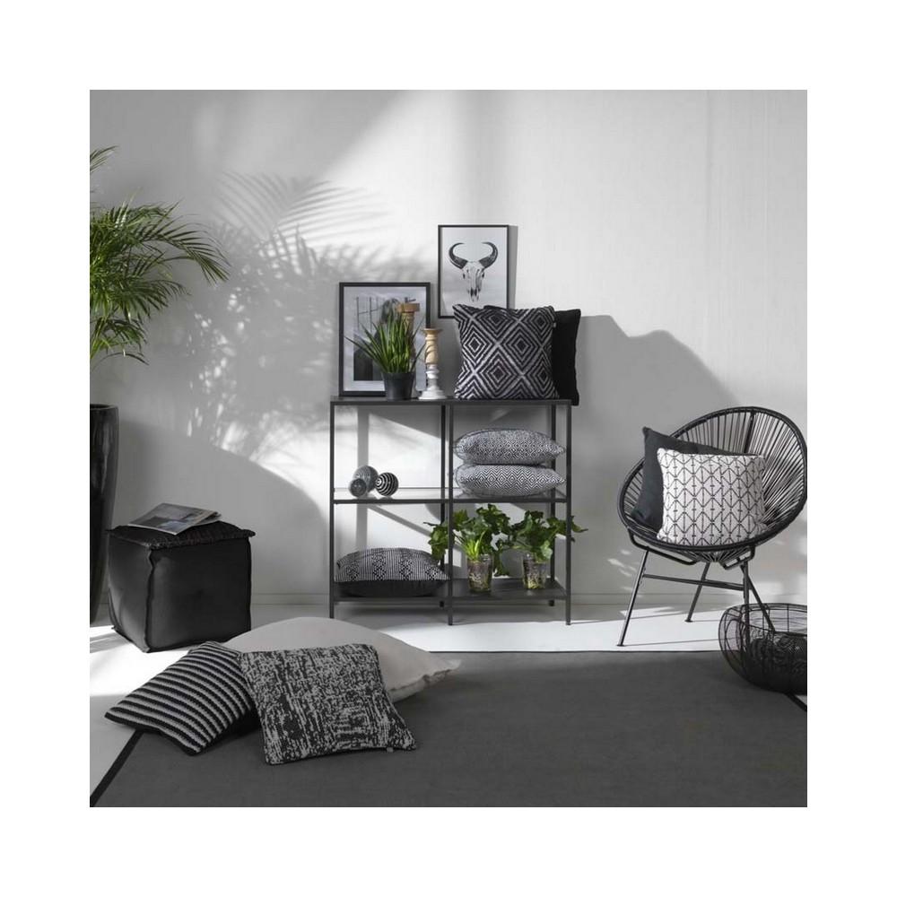 coussin carr noir et blanc dutch decor coussins shop. Black Bedroom Furniture Sets. Home Design Ideas