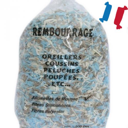 Allumettes de mousse pour rembourrage 500g