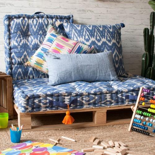 Coussin de sol carré Mexicano multicolore Calma House