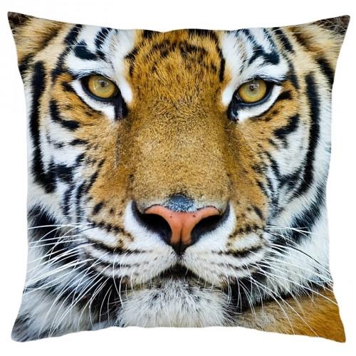 Housse de coussin carrée tigre