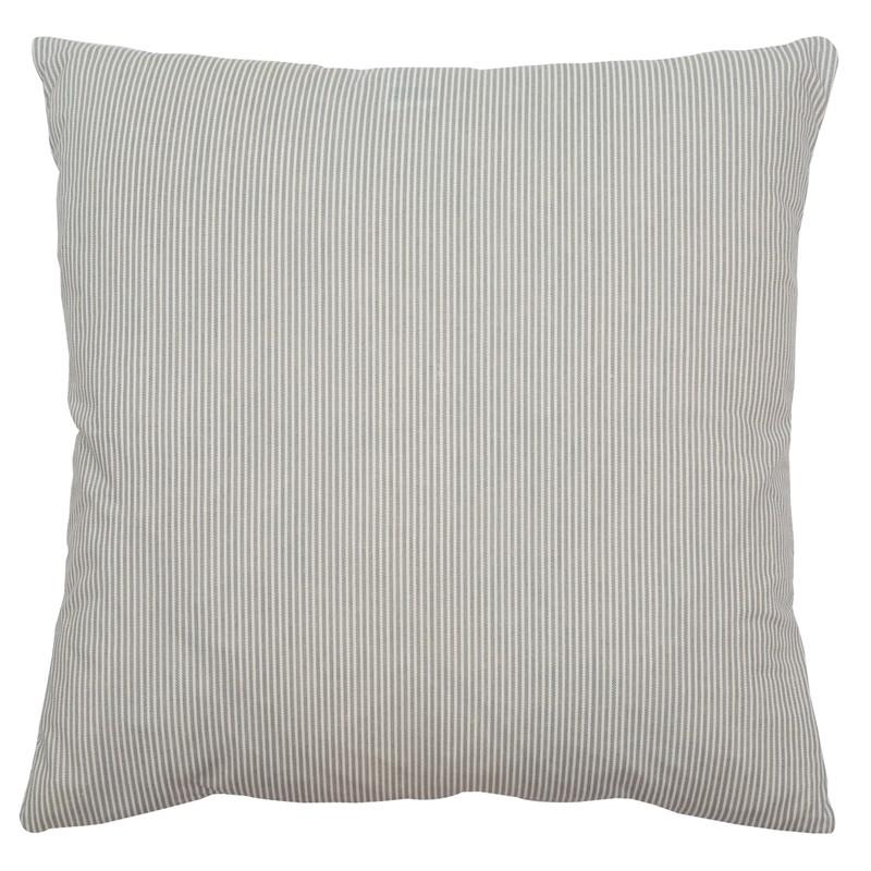 Coussin carré gris et blanc rayé A.U Maison