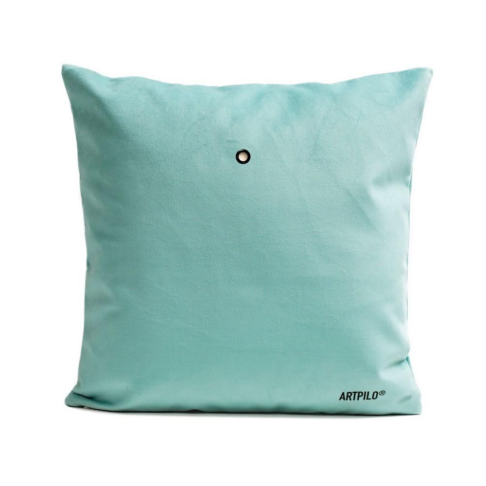 housse de coussin animal vert d 39 eau papillon artpilo. Black Bedroom Furniture Sets. Home Design Ideas